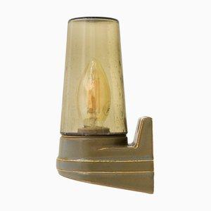 Mid-Century Porzellan und Glas Wandlampe von Sigvard Bernadotte für Ifo