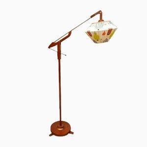 Lámpara de pie de teca, años 50
