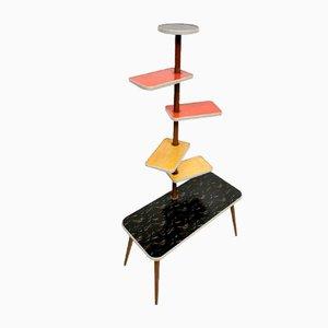 Tavolino in formica con portapiante, Germania, anni '50