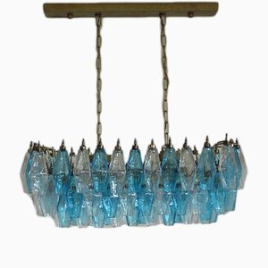Poliedri Murano Glass Chandelier from Carlo Scarpa, 1970s