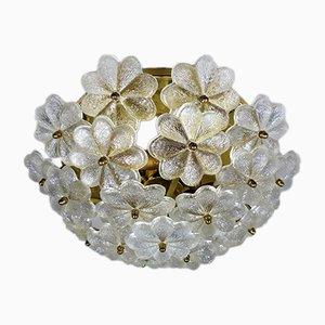 Deutsche Glasblumen Deckenlampe von Palwa, 1960er