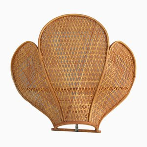 French Rattan Sconce, 1970s