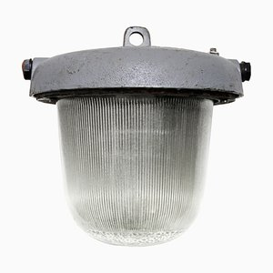 Deckenlampe aus Gusseisen von Holophane, 1950er