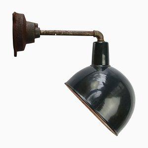 Industrielle Blaue Gusseisen Wandlampe, 1950er