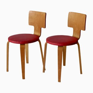 Mid-Century Plywood Side Chairs by Cor Alons for Gouda den Boer, Set of 2