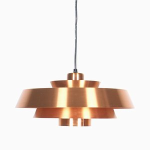 Nova Copper Pendant Lamp by Johannes Hammerborg for Fog & Mørup, 1960s
