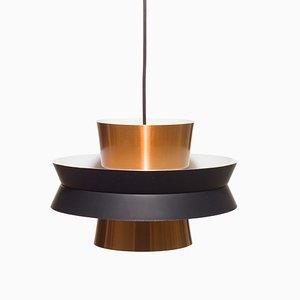 Lampada da soffitto Mid-Century in rame di Carl Thore & Sigurd Lindkvist per Granhaga Metallindustri