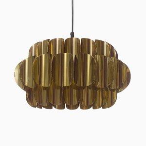 Lampada da soffitto in ottone di Thorsten Orrling per Hans-Agne Jakobsson AB Markaryd, anni '60