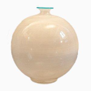 Vase en Verre de Murano par Ercole Barovier pour Barovier & Toso, Italie, 1980s