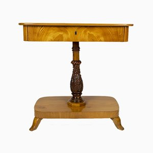 Antique Danish Biedermeier Elm Console Table