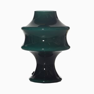 German Green Murano Glass Table Lamp from Peill & Putzler, 1970s