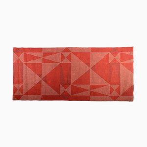 Tappeto modernista geometrico rosso, anni '60