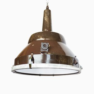 Large Industrial Polish Airport Ceiling Lamp, 1970s