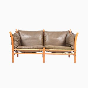 Ilona Leather Sofa by Arne Norell for Arne Norell AB, 1960s