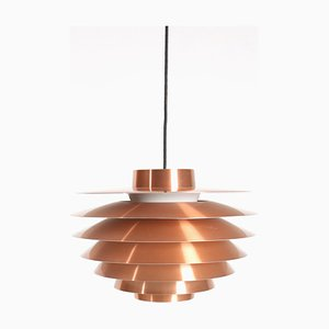 Verona Copper Ceiling Lamp by Svend Middelboe for Nordisk Solar, 1960s