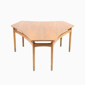 Table Basse en Noyer, Danemark, 1940s