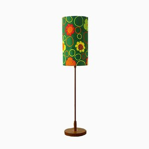 Lámpara de pie danesa Mid-Century de teca, años 60