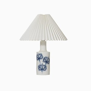 Blue Ceramic Table Lamp by Kaj Lange for Fog & Mørup, 1960s