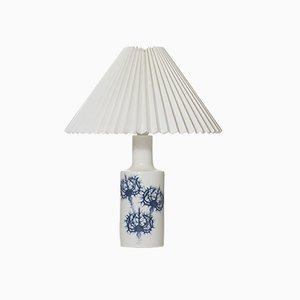Lampe de Bureau en Céramique Bleue par Kaj Lange pour Fog & Mørup, 1960s