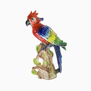 Vintage Dutch Ceramic Parrot Figurine from Jema, 1950s
