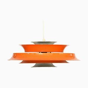 Lampada da soffitto laccata arancione, Danimarca, anni '70