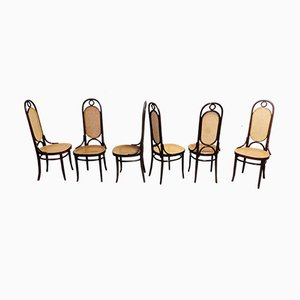 Model 17 Dining Chairs Thonet, 1980s, Set of 6