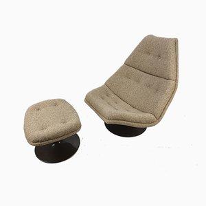 F510 Sessel & Fußhocker Set von Geoffrey Harcourt für Artifort, 1970er