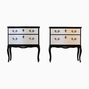 Rococo Style Bedside Cabinets, 1920s, Set of 2