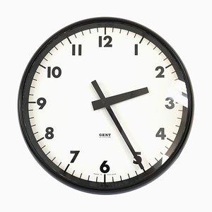 Reloj de pared industrial vintage de Gents & Company Limited, años 40