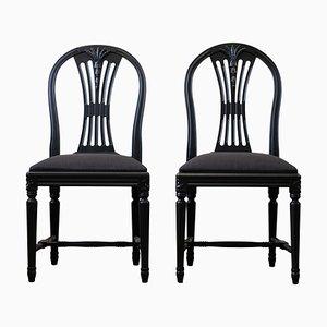 Schwedische Ax Esszimmerstühle, 1920er, 2er Set