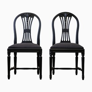 Swedish Ax Dining Chairs, 1920s, Set of 2