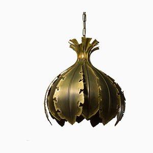 Lampada da soffitto nr. 6395 in ottone ossidato di Svend Aage Holm Sørensen per Holm Sørensen & Co, anni '60