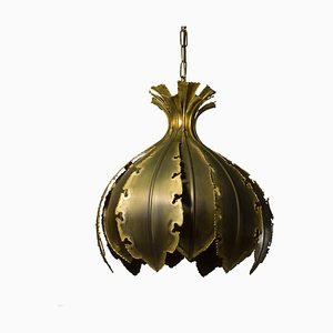 Model 6395 Oxidized Brass Ceiling Lamp by Svend Aage Holm Sørensen for Holm Sørensen & Co, 1960s