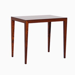 Vintage Rosewood Side Table by Severin Hansen for Haslev Møbelsnedkeri