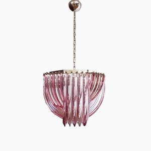 Triedri Murano Glass Chandelier, 1980s