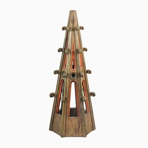 Antike gothische Altar Ziselierung aus Eiche
