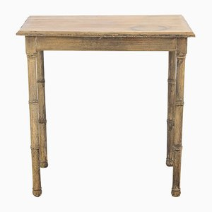 Antique Faux Bamboo Side Table
