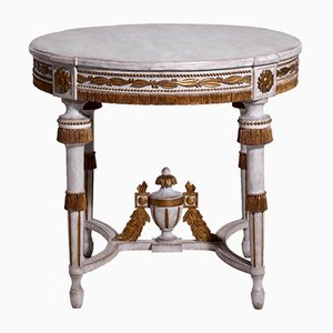 Antique Gustavian Style Gilded Center Table