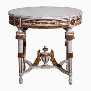 Mesa de centro gustaviana antigua dorada