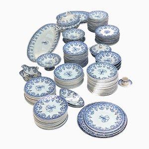 Large Vintage Blue & White Ceramic Tableware Set from Gien, 1960s, Set of 150