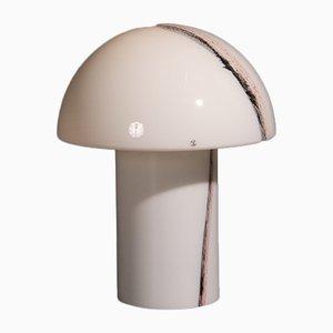 Lámpara de mesa alemana de vidrio Cirrus de Peill & Putzler, años 60