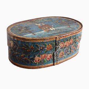 Boîte Antique Peinte, 19ème Siècle