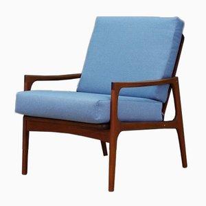 Sillón Lounge danés vintage, años 60