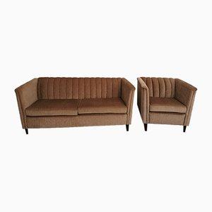 Amerikanisches Sofa und Sessel, 2000er, 2er Set