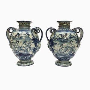 Mid-Century Vases from Savona, 1950s, Set of 2