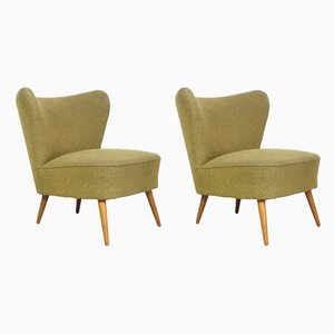 Vintage Green Cocktail Chairs, 1950s, Set of 2