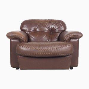 Vintage Italian Leather Lounge Chair from Vavassori, 1970s