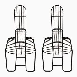 Sillas de escritorio esmaltadas, años 70. Juego de 2