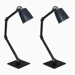 Lámparas de mesa de Memlite, años 50. Juego de 2