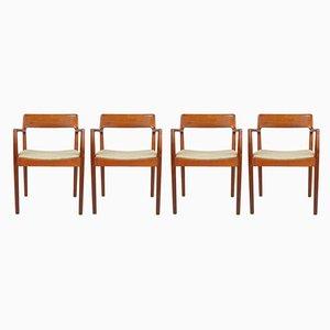 Teak Esszimmerstühle von Malcolm David Walker für Dalescraft, 1960er, Set of 4
